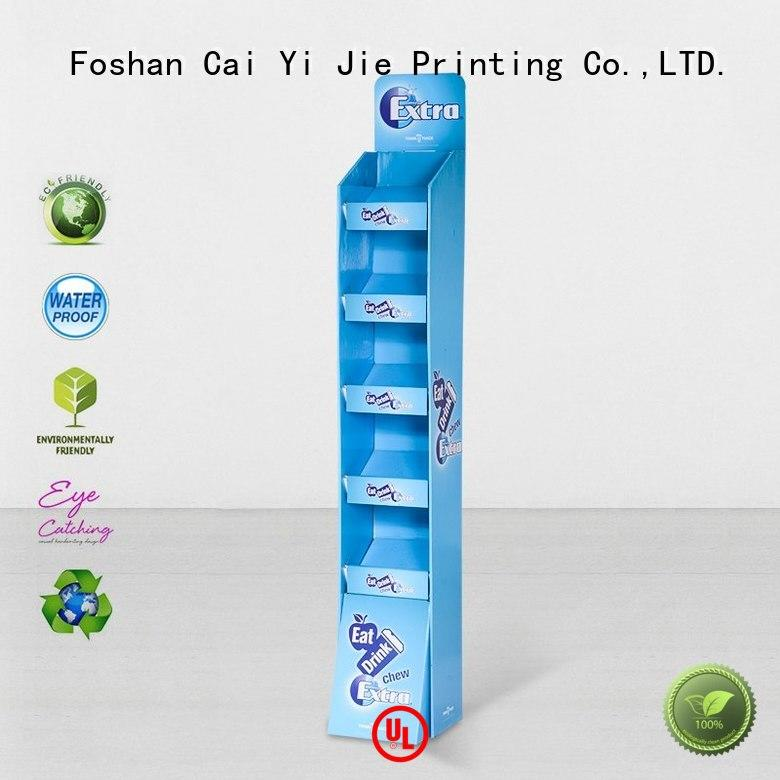 color promotional CAI YI JIE Brand cardboard stand
