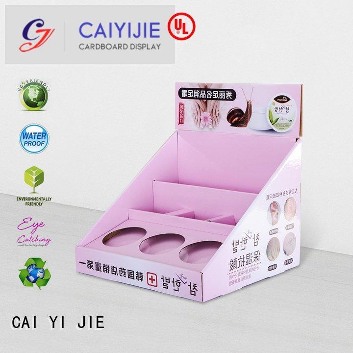 custom cardboard counter displays stands cardboard cardboard display boxes CAI YI JIE Brand