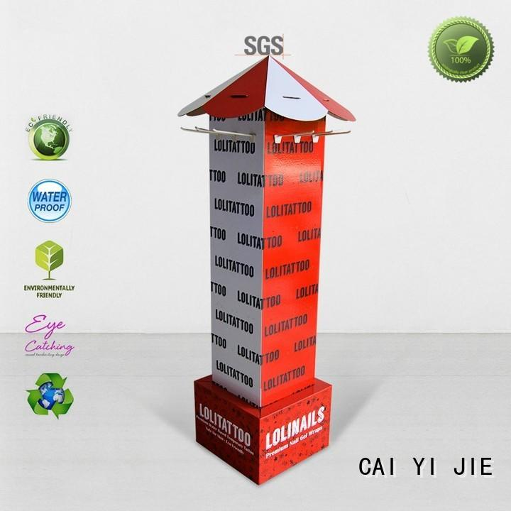 stair cardboard magazine stand stair for supermarket CAI YI JIE