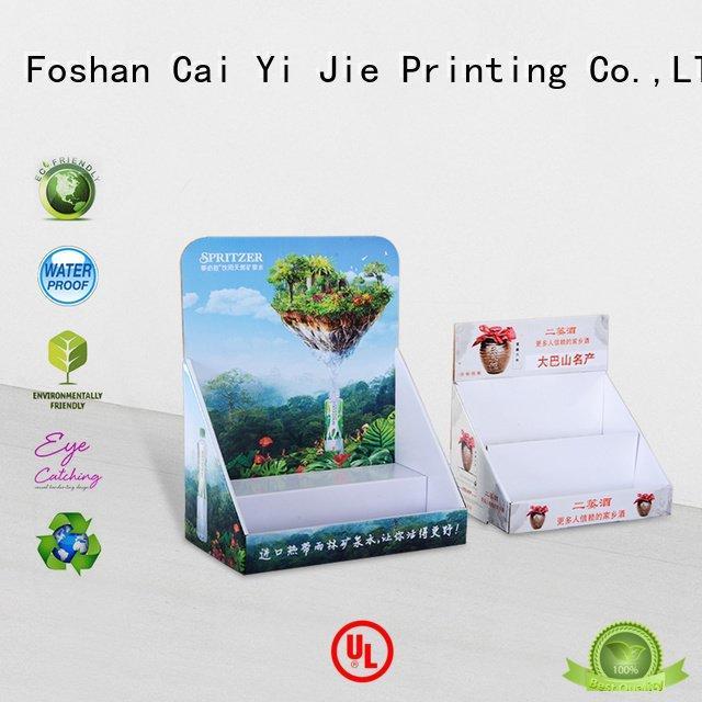 OEM custom cardboard counter displays marketing stands supermarkets cardboard display boxes