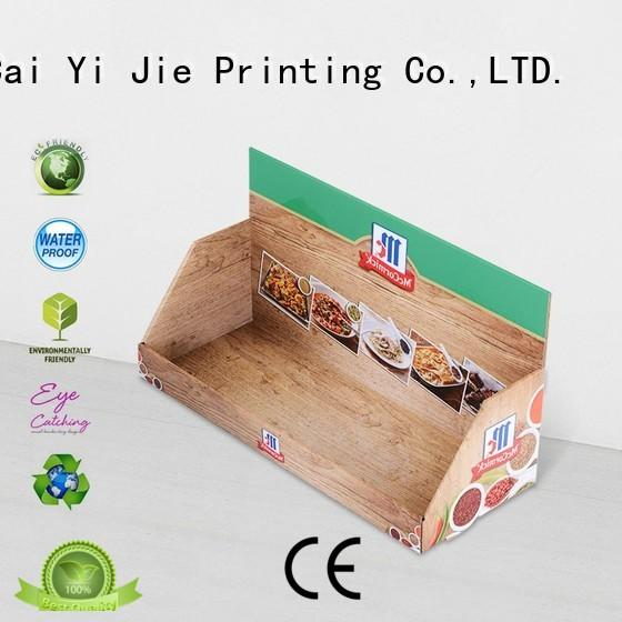 CAI YI JIE grocery black cardboard display boxes for products