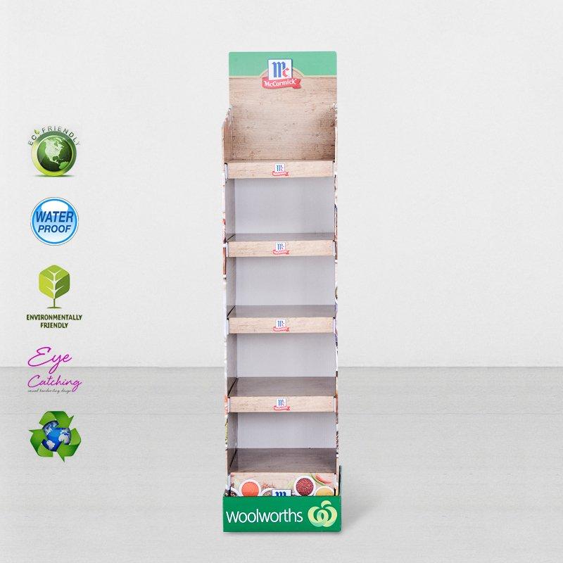 CAI YI JIE Printed Cardboard Retail Display Stand With Plastic Clip Cardboard Floor Display image28