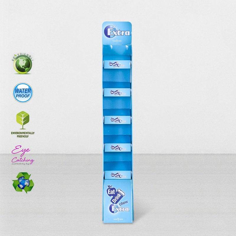 CAI YI JIE Cardboard Floor Retai Displays Stiand With Plastic Clip Cardboard Floor Display image27