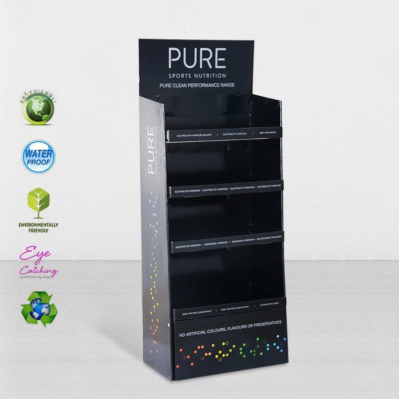 CAI YI JIE Cardboard Retail Display Stands With Stainless Tube Cardboard Floor Display image16