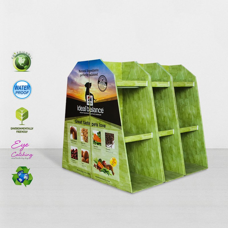 CAI YI JIE Easy Install Cardboard Pallet Display With Plastic Clip Cardboard Pallet Display image14