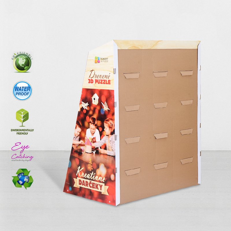 CAI YI JIE Color Cardboard Stand With Stainless Tube For Retail Products Cardboard Floor Display image48