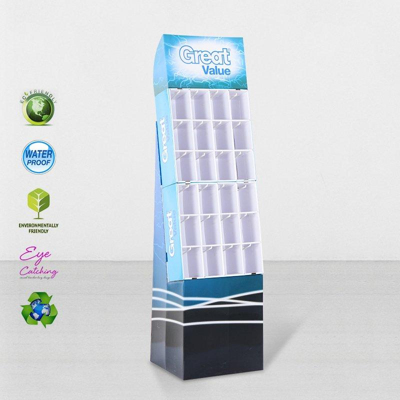 Cardboard Display Hook Stands For Marketing Advertising