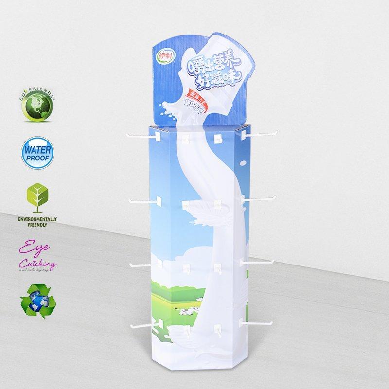 Power Wing Sidekicks Corrugated Display Stand With Plastic Hooks