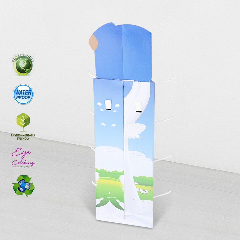 CAI YI JIE Power Wing Sidekicks Corrugated Display Stand With Plastic Hooks Cardboard Power Wing/Side Kicks image40