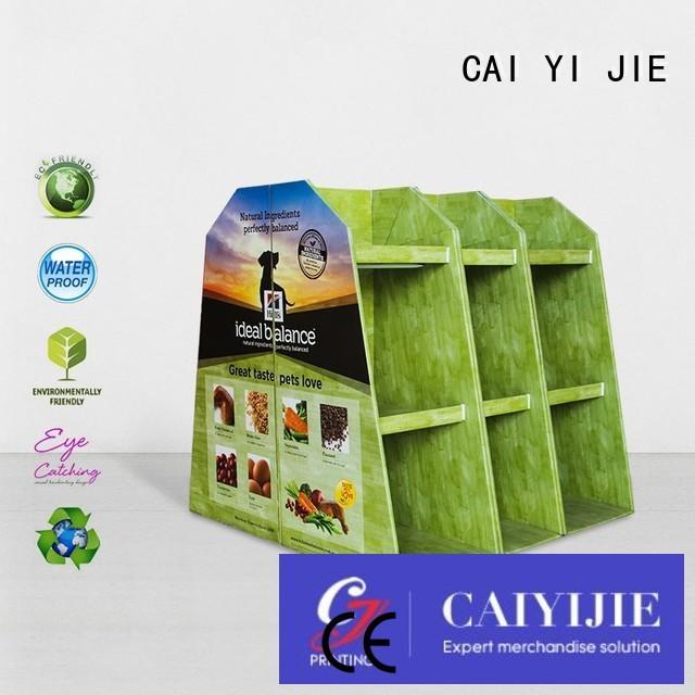 CAI YI JIE Brand pallet retail cardboard pallet display display