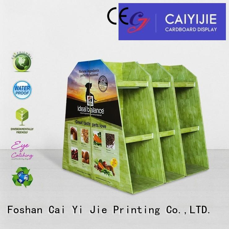 clip pallet display carton for stores CAI YI JIE