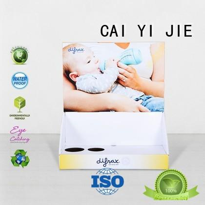 CAI YI JIE custom cardboard display boxes factory price for stores