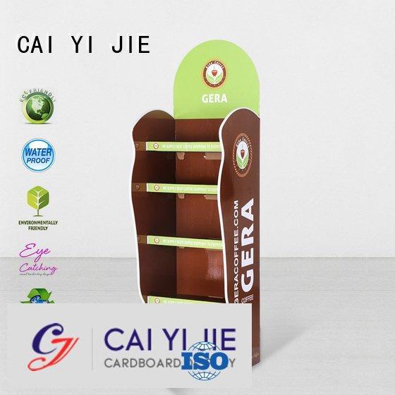 cardboard greeting card display stand tube cardboard stand CAI YI JIE