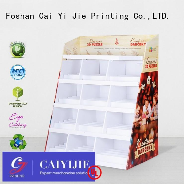 displays cardboard retail display stands stand CAI YI JIE