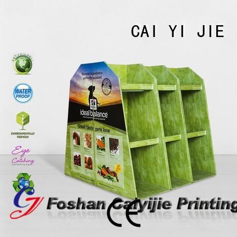 carton cardboard display rack for stores CAI YI JIE