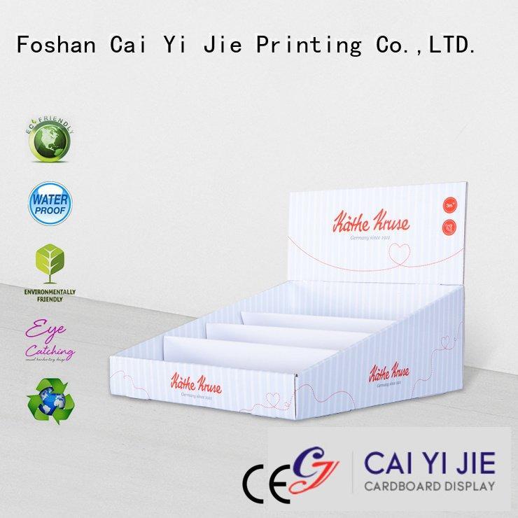 Custom cardboard display boxes chain products display CAI YI JIE