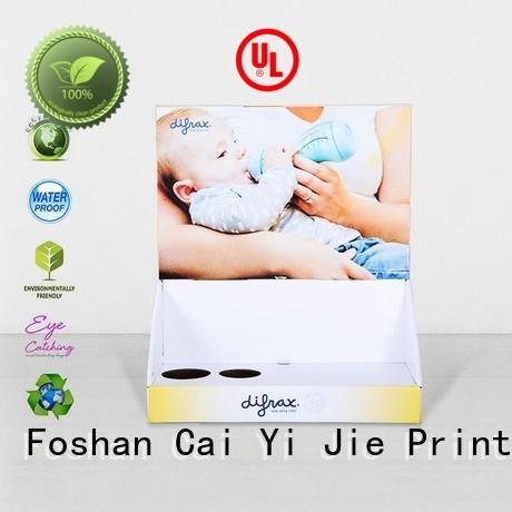 CAI YI JIE commodity pos display box hot-sale