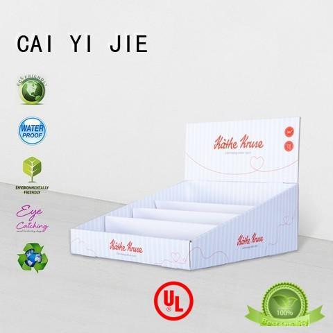 custom cardboard display boxes for stores CAI YI JIE