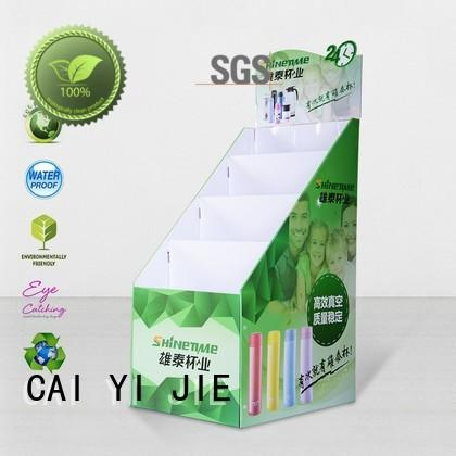 CAI YI JIE super cardboard book display for promotion