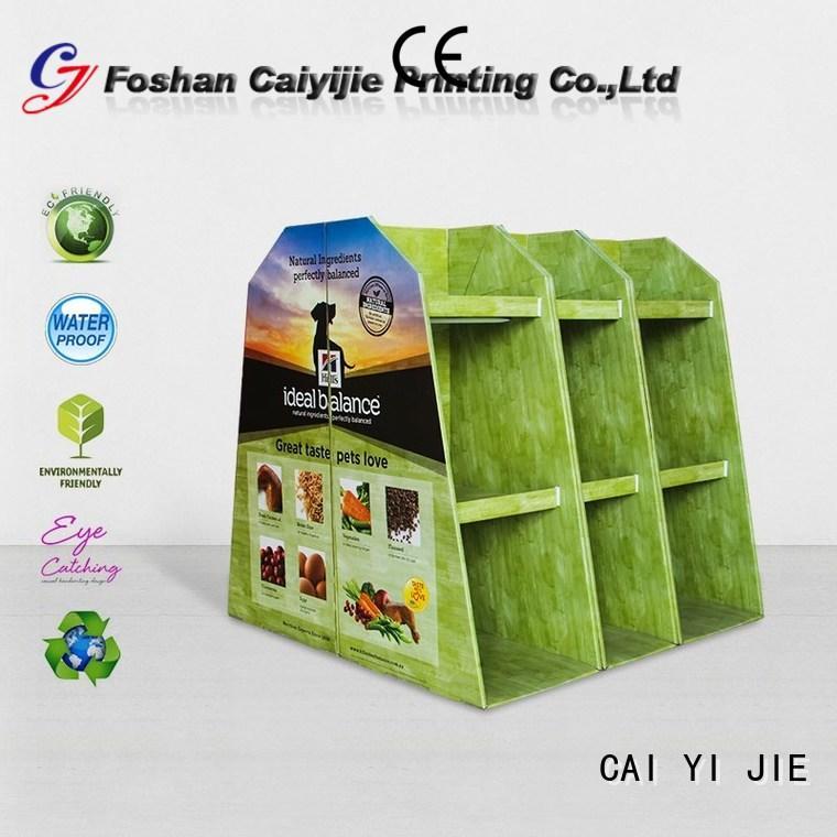 CAI YI JIE Brand plastic promoting cardboard pallet display