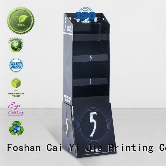 paper cardboard free standing display units cardboard display for phone accessories CAI YI JIE