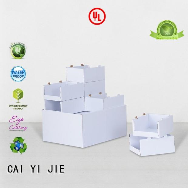 cardboard pallet boxes with lids for stores CAI YI JIE