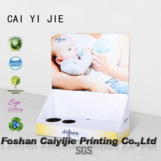 CAI YI JIE Brand counter custom cardboard counter displays boxes sale
