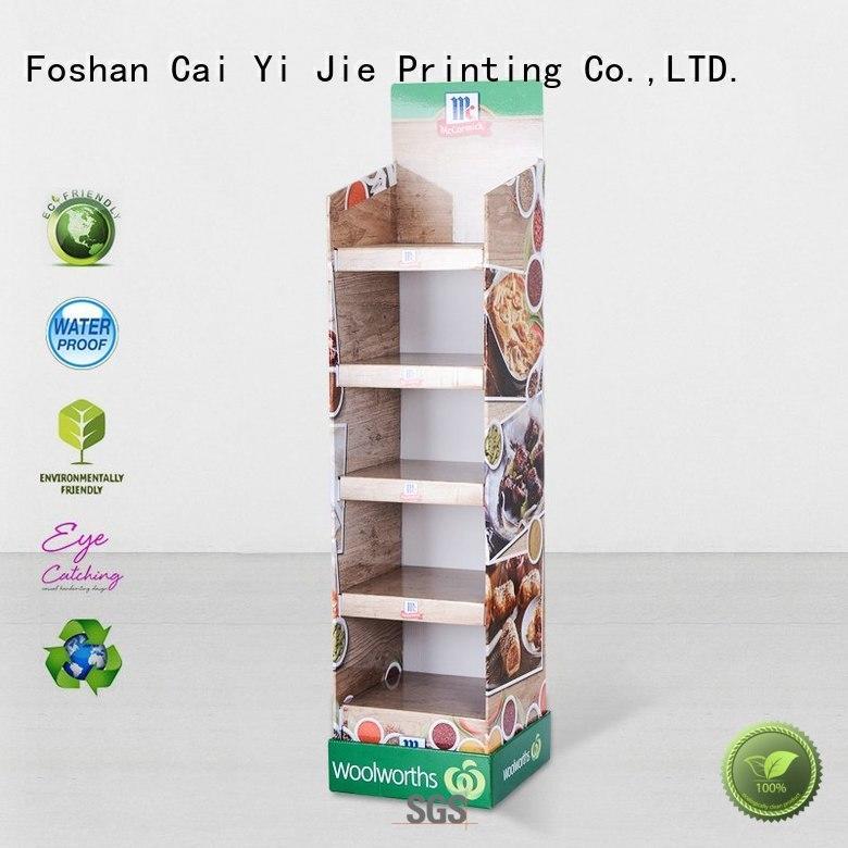 promotional cardboard floor stands osram forbottle