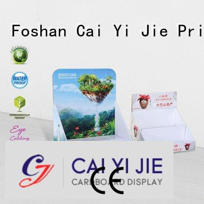 chain cardboard grocery display CAI YI JIE cardboard display boxes