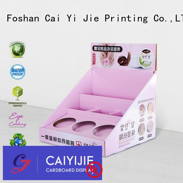 custom cardboard counter displays countertop cardboard display boxes CAI YI JIE