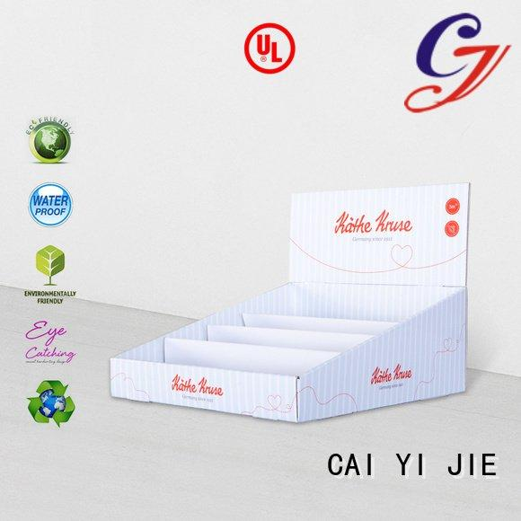 CAI YI JIE custom cardboard counter displays units marketing stores products