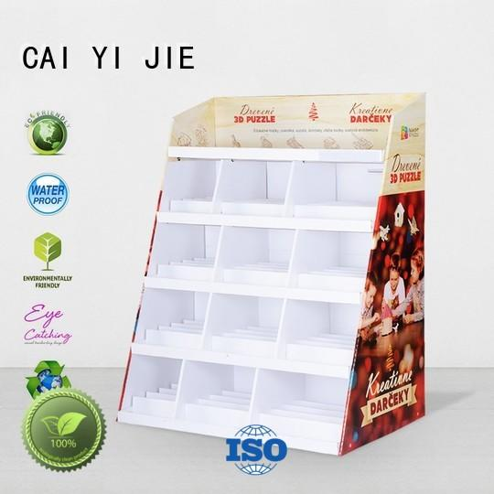 CAI YI JIE super cardboard floor stands stair for led light