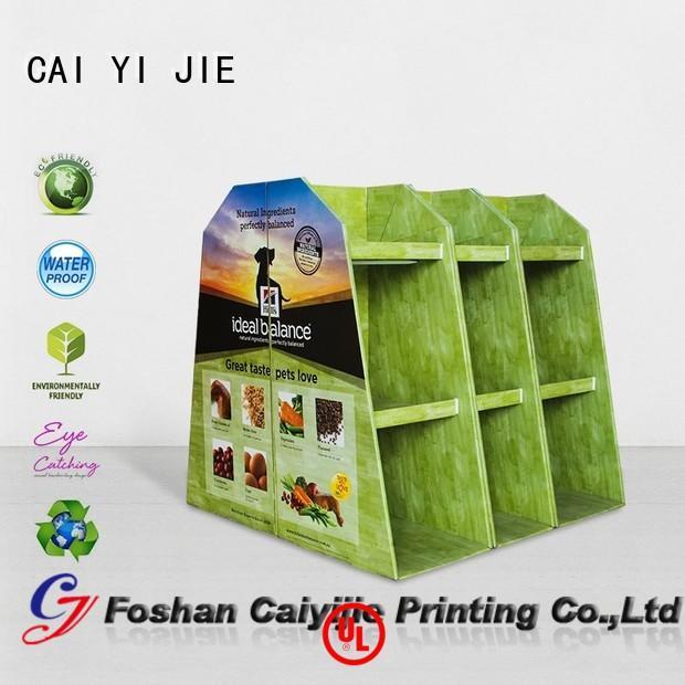 cardboard pallet display easy mobile Bulk Buy pos CAI YI JIE