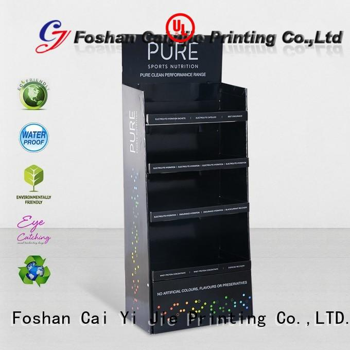 CAI YI JIE multifunctional cardboard counter display stands chip for milk