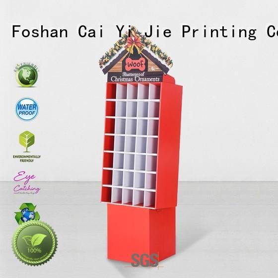 chain printed cardboard stand fashion CAI YI JIE Brand