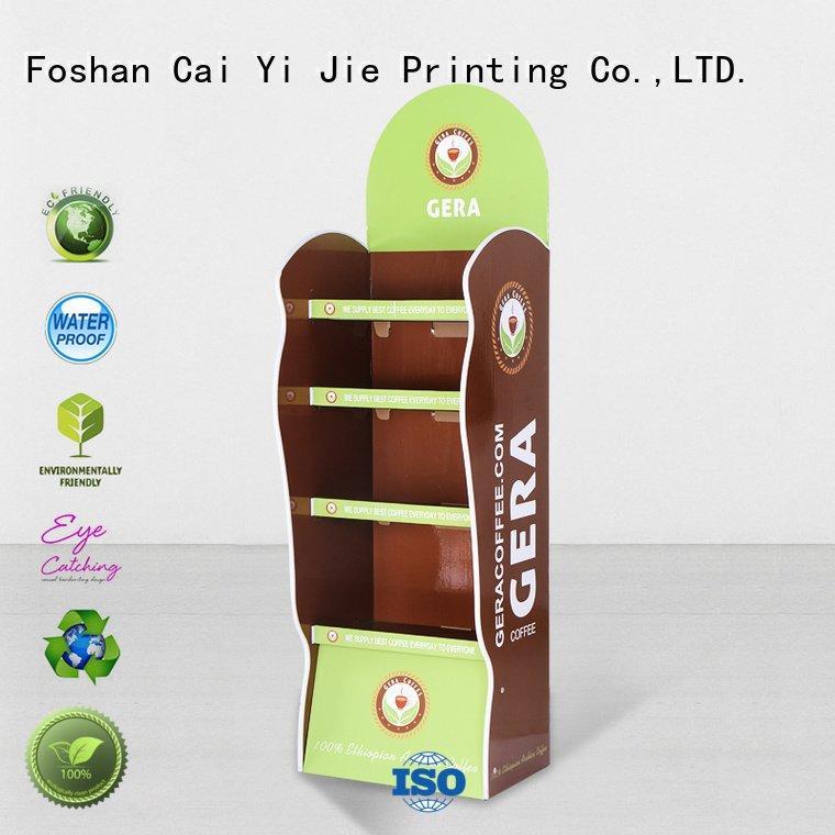 OEM cardboard stand display space cardboard greeting card display stand