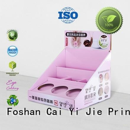 marketing stands stores CAI YI JIE Brand custom cardboard counter displays manufacture