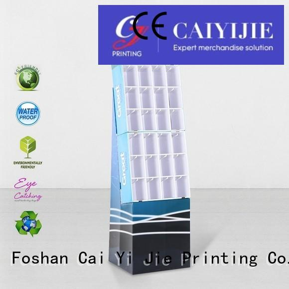 printing color CAI YI JIE Brand counter hook display stand factory