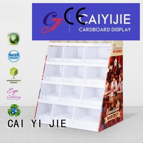 product cardboard greeting card display stand uv clip CAI YI JIE Brand