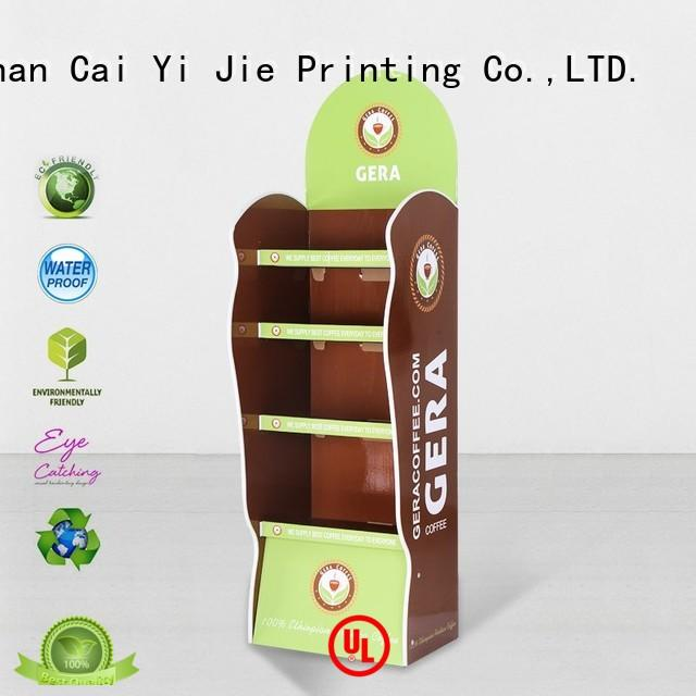 CAI YI JIE corrugated cardboard point of sale display stands cardboard forbottle