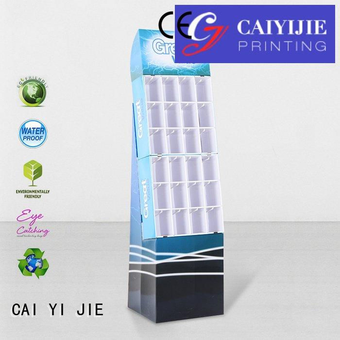 CAI YI JIE counter hook display stand printing marketing stands