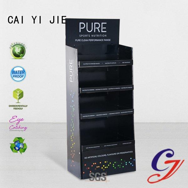 CAI YI JIE Brand stainless tube cardboard greeting card display stand uv point