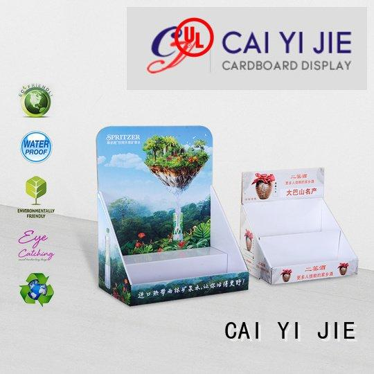 CAI YI JIE custom cardboard counter displays counter products sale