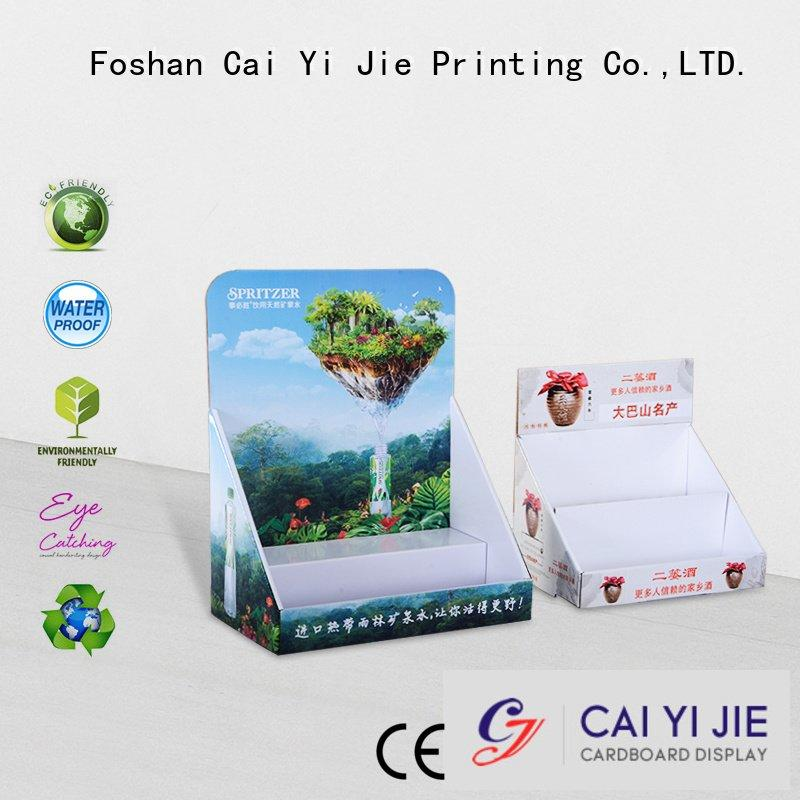 cardboard product custom cardboard counter displays CAI YI JIE