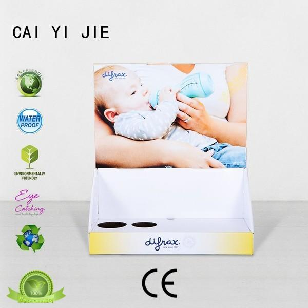 custom cardboard counter displays units grocery CAI YI JIE Brand
