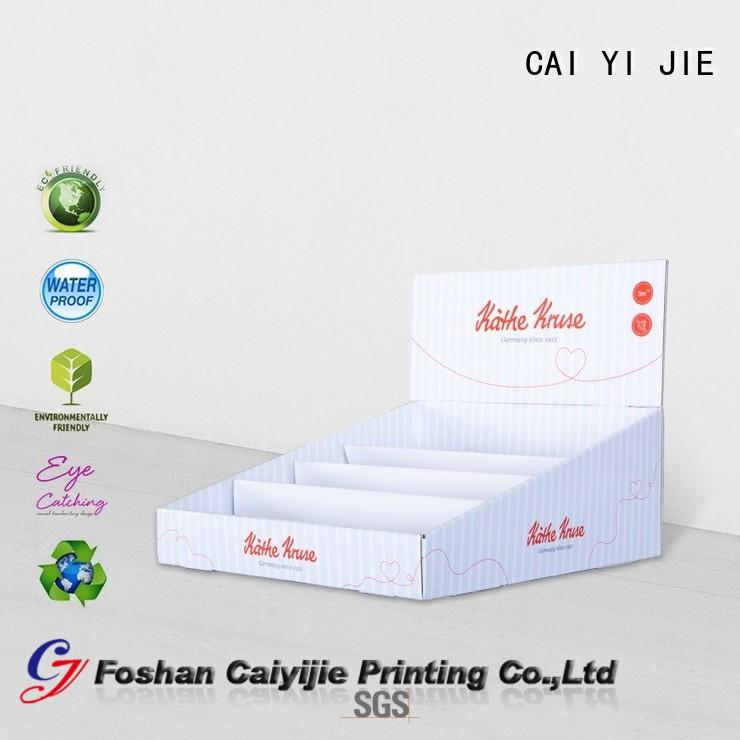 cardboard book display boxes for supermarkets CAI YI JIE