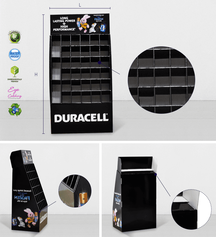 Stair Step Cardboard Retail Display Stand