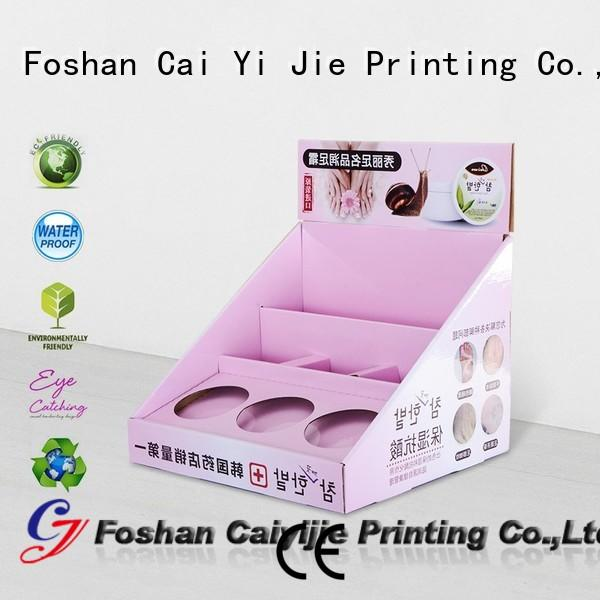 CAI YI JIE cardboard counter display boxes hot-sale for supermarkets