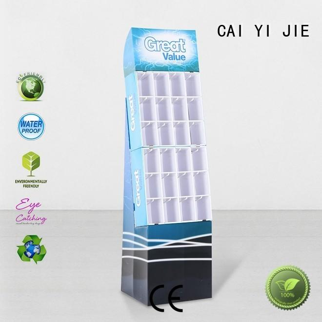 custom cardboard hook display manufacturer for perfume CAI YI JIE