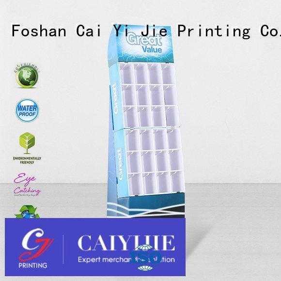 counter hook display stand cardboard marketing OEM hook display stand CAI YI JIE